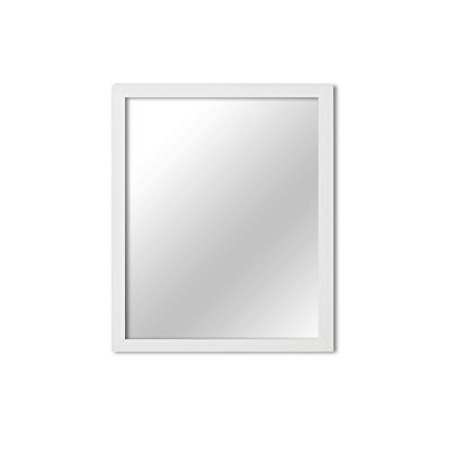 MI-100 White Framed Mirror 11x14