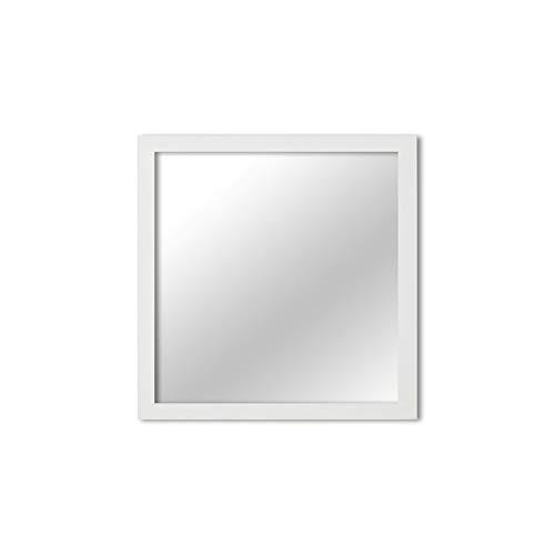 MI-100 White Framed Mirror 12x12