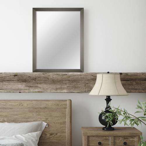 MI-100 Gray Framed Mirror 16x20