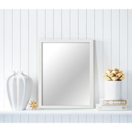 MI-100 White Framed Mirror 16x20